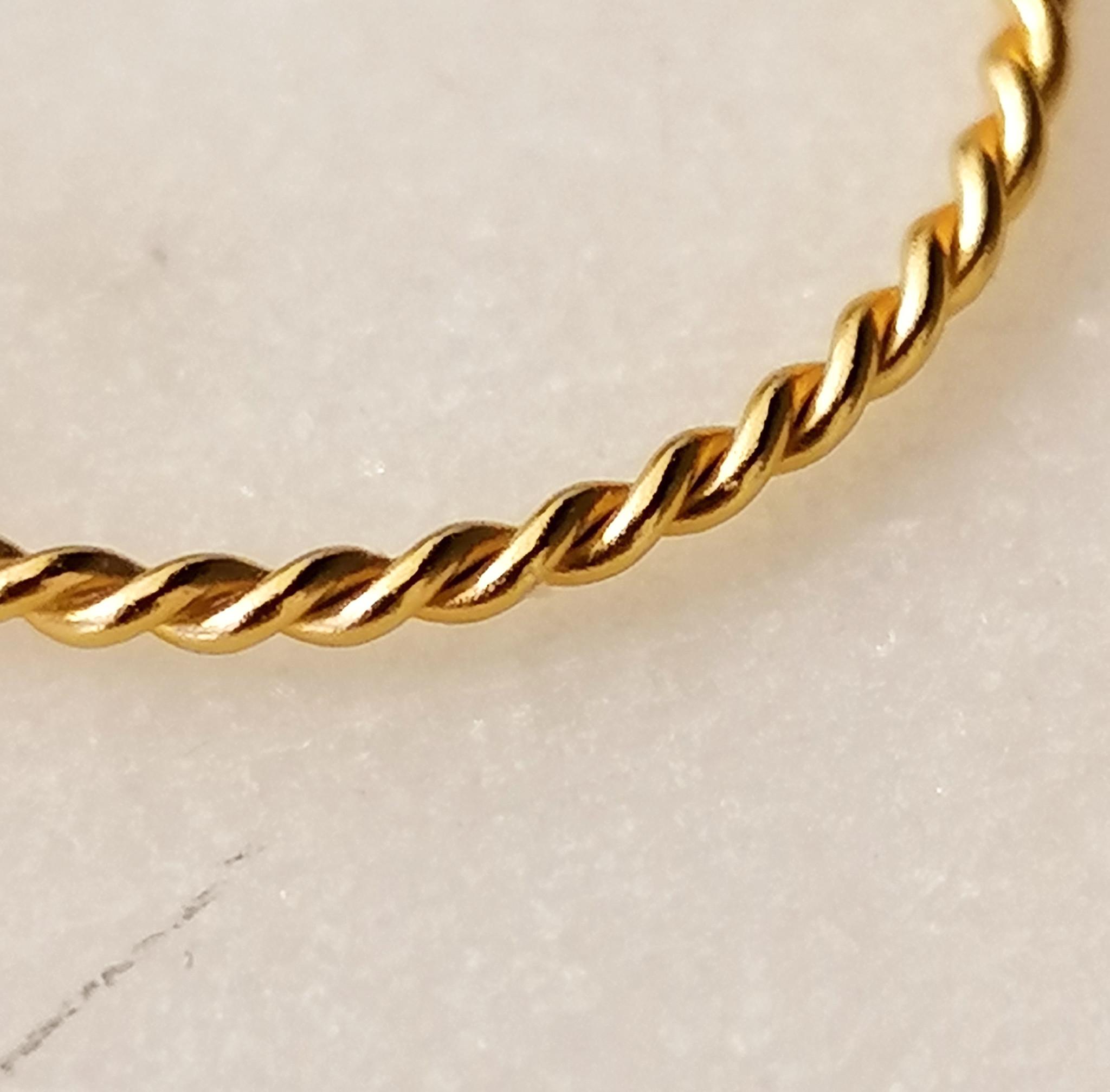 Fein geflochtener Ring aus 925er Sterling Silber - Gold-4