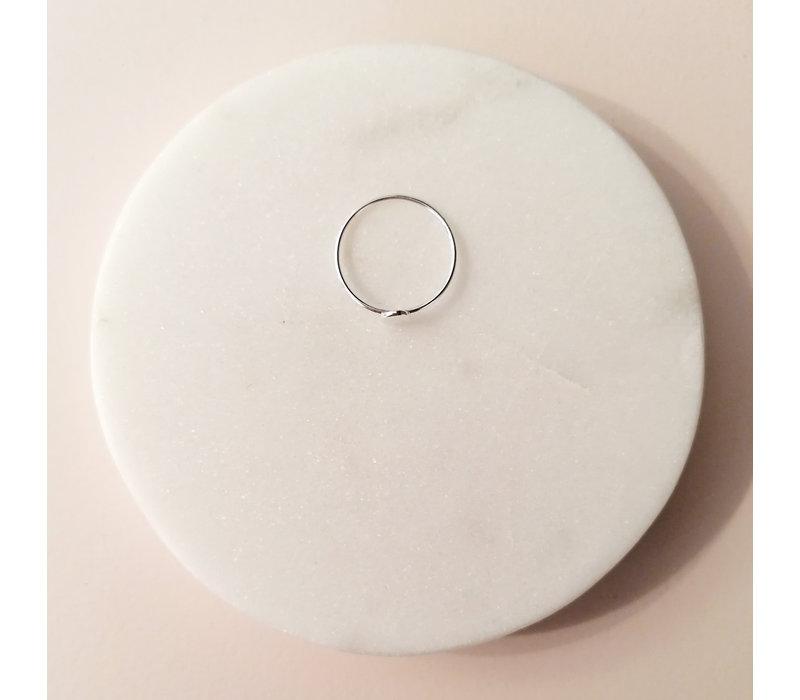Feiner Ring mit Scheibe aus 925er Sterling Silber