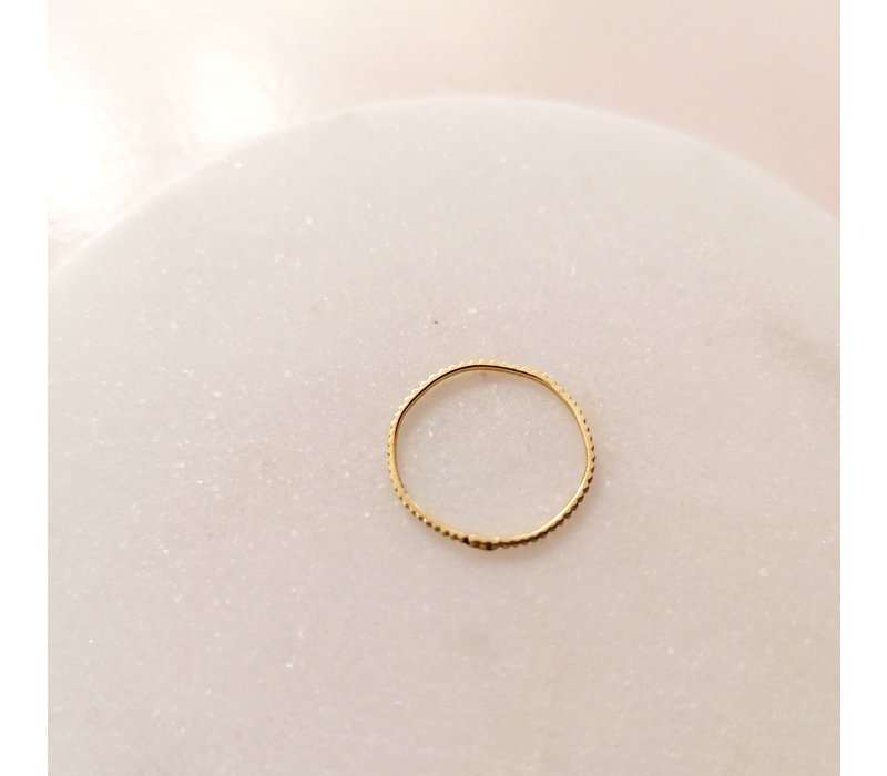 relined Gold - Relief Ring in 925 sterling silver