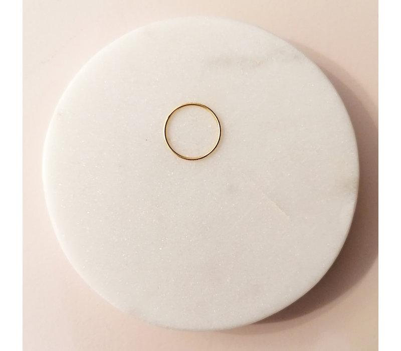Goldring mit Facettenschliff - 925er Sterling Silber