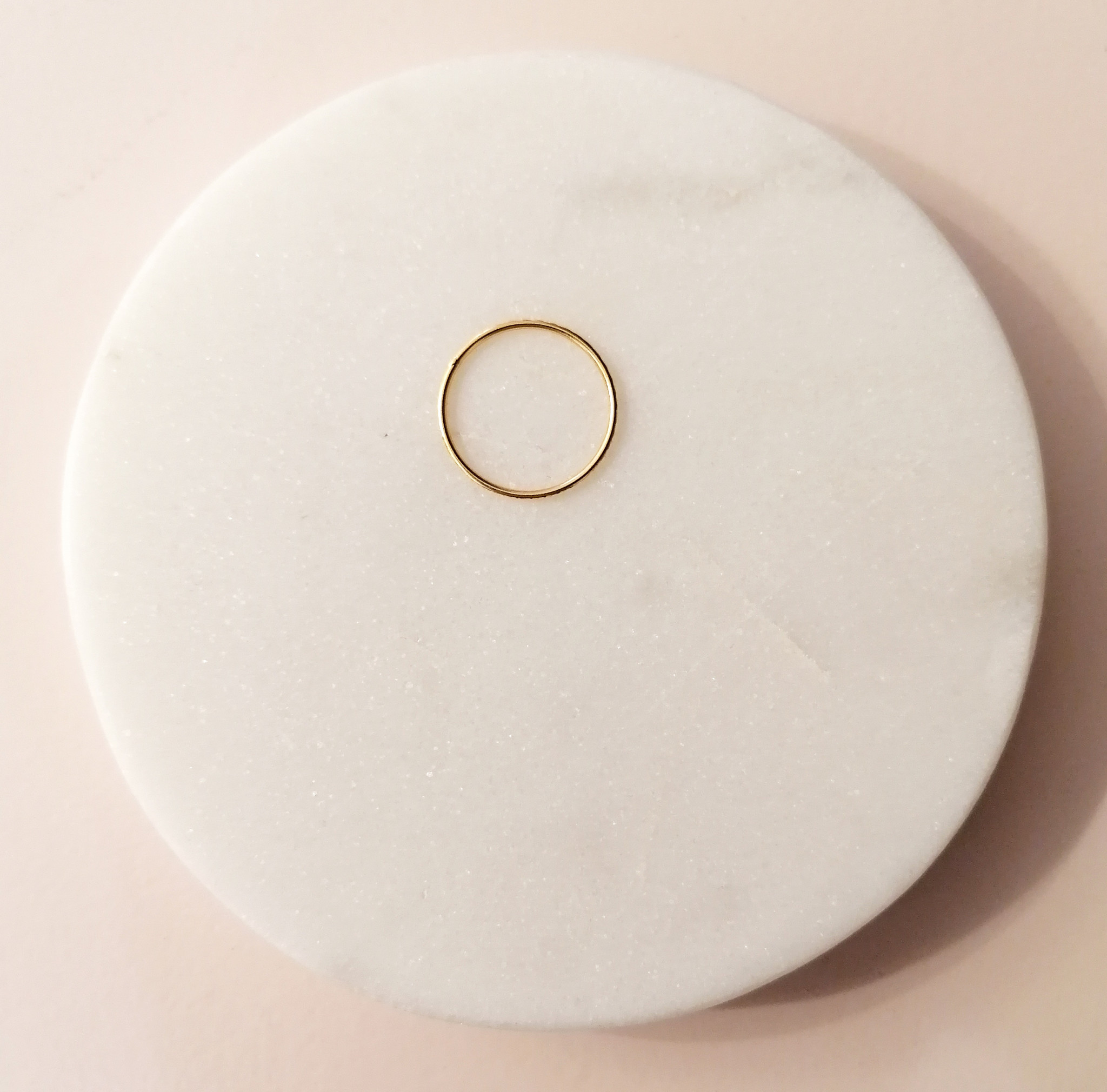 Gold ring with facet cut - 925 sterling silver-4