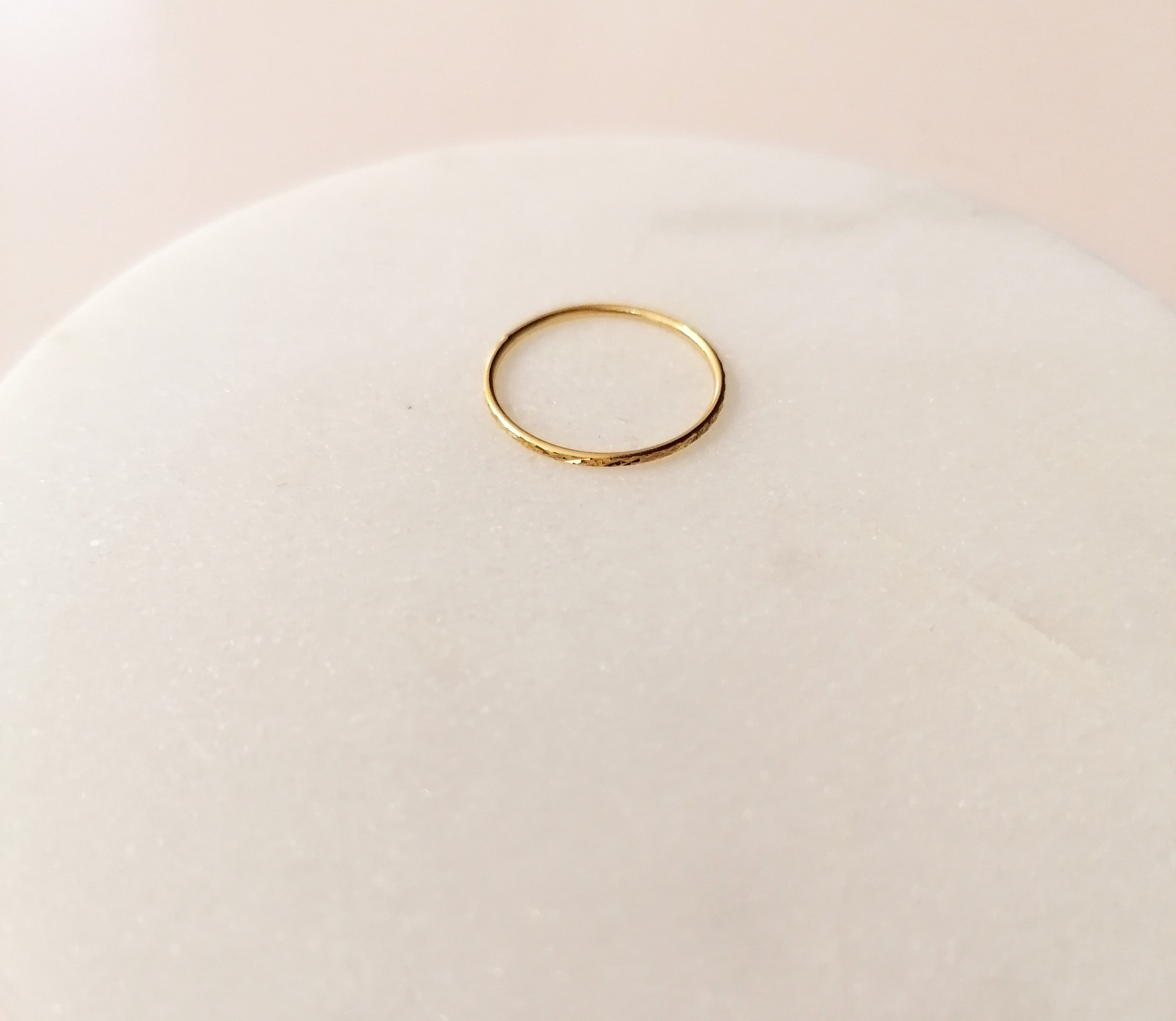 Gold ring with facet cut - 925 sterling silver-5