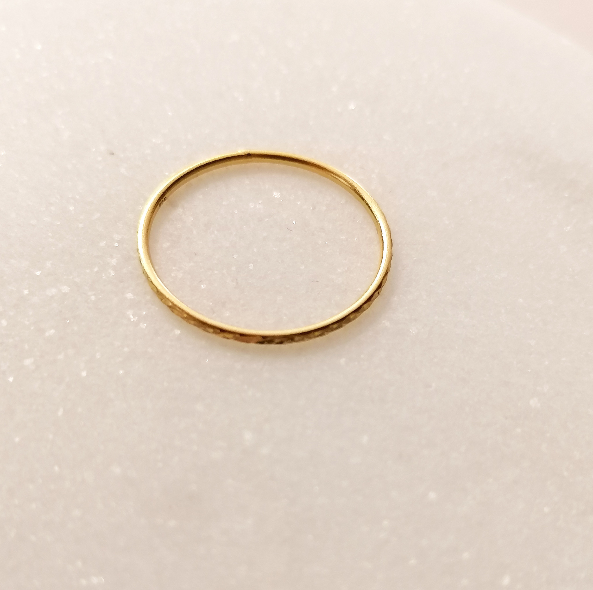 Gold ring with facet cut - 925 sterling silver-6