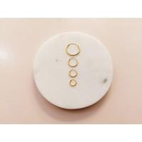 Small Hoop Earrings (10mm) - 925 Sterling Silver - Gold