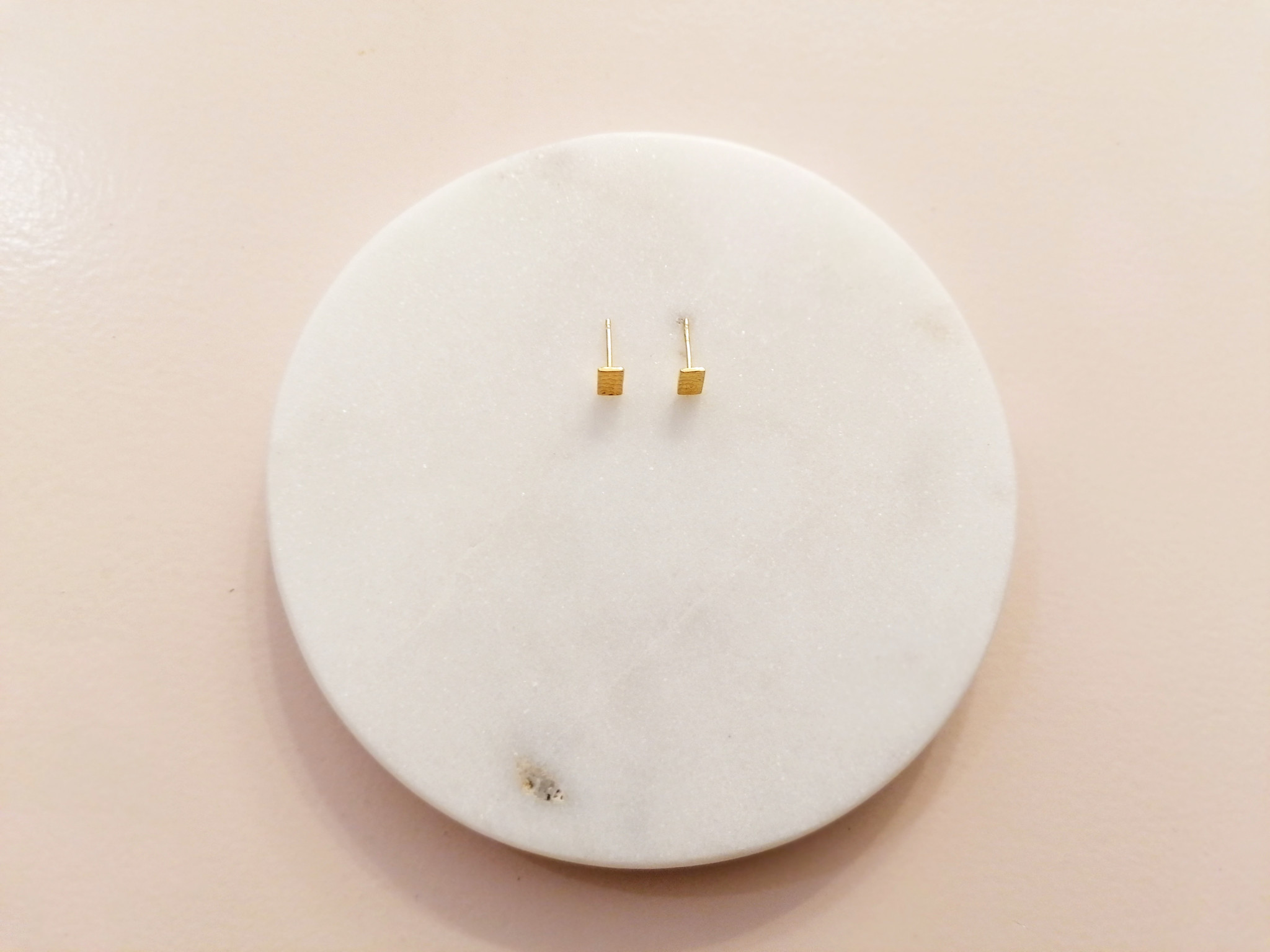 Purist Studs rectangle 925 sterling silver - Gold-4