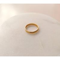 Klassischer  Ring aus 925er Sterling Silber - Gold