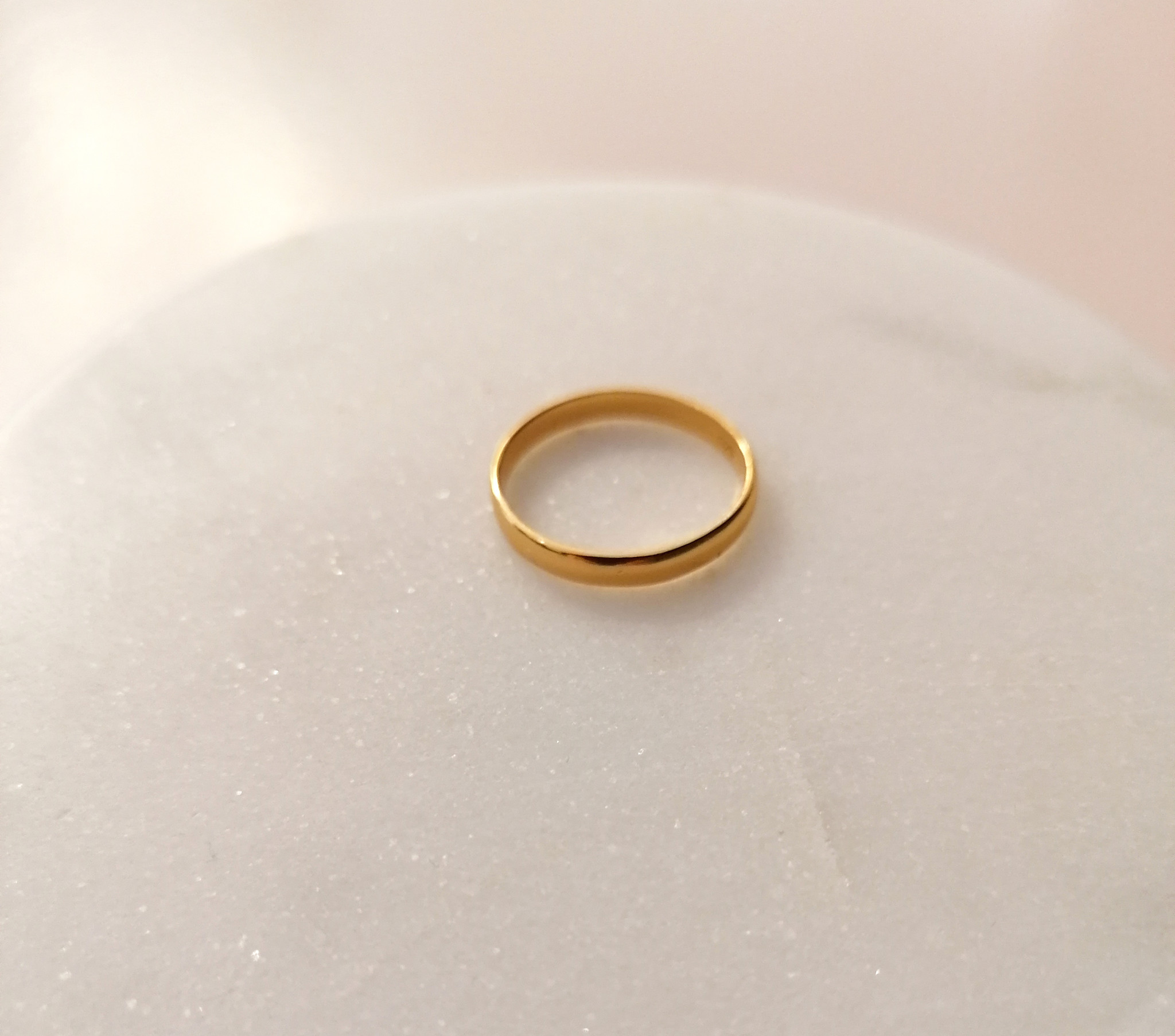 Classic ring made of 925 sterling silver - gold-3