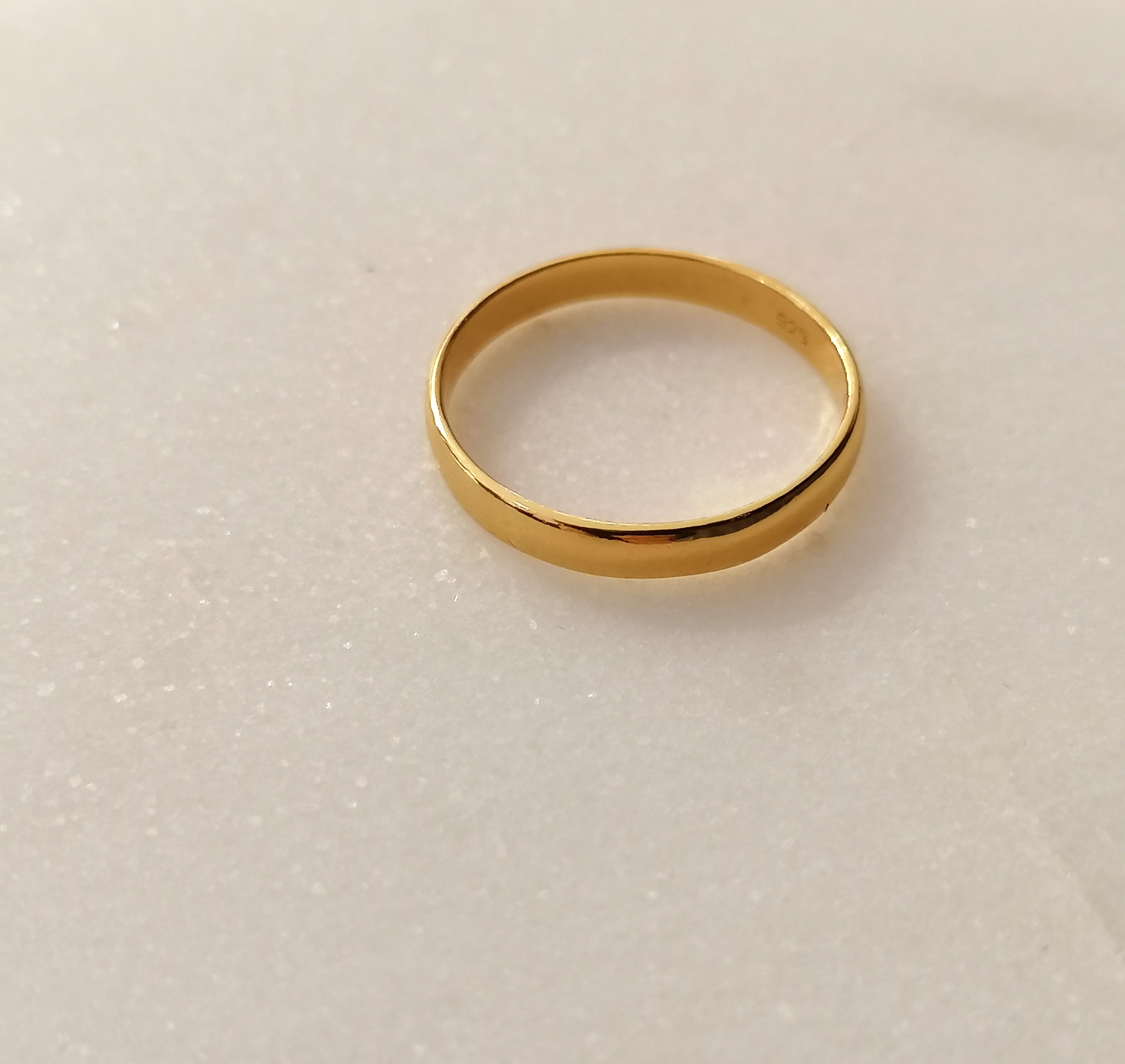 Classic ring made of 925 sterling silver - gold-4