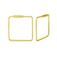 Creolen Ohrringe Quadrat - 925er Sterling Silber - Gold - 18mm