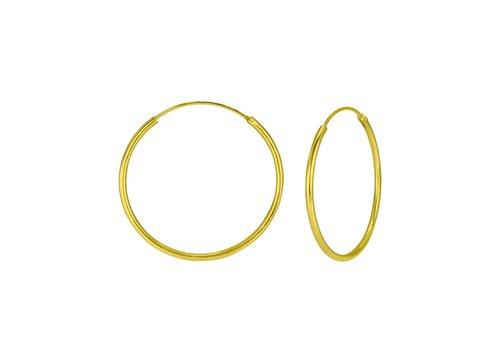 Große Creolen Ohrringe - 925er Sterling Silber - Gold