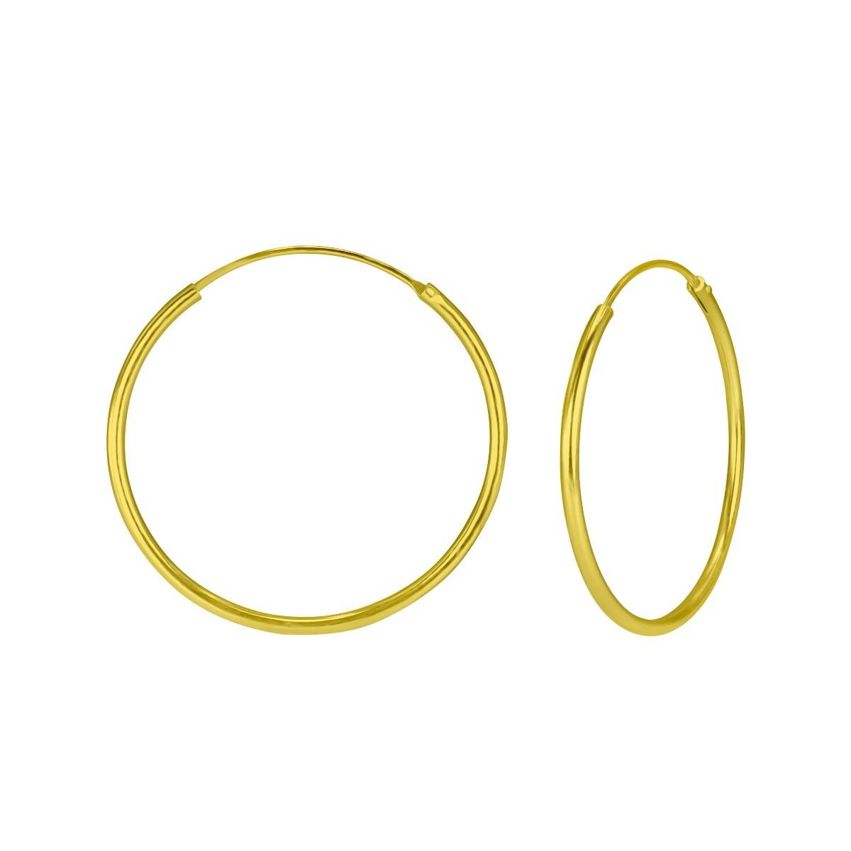 Große Creolen Ohrringe - 925er Sterling Silber - Gold-1