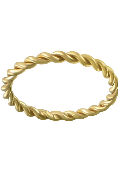 Massive braided ring of 925 sterling silver - Gold