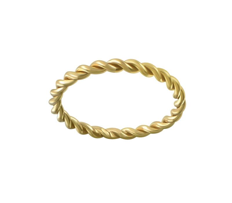 Breit geflochtener Ring aus 925er Sterling Silber - Gold