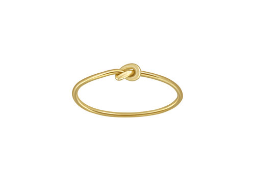 Fine ring with knot made of 925 sterling silver - gold