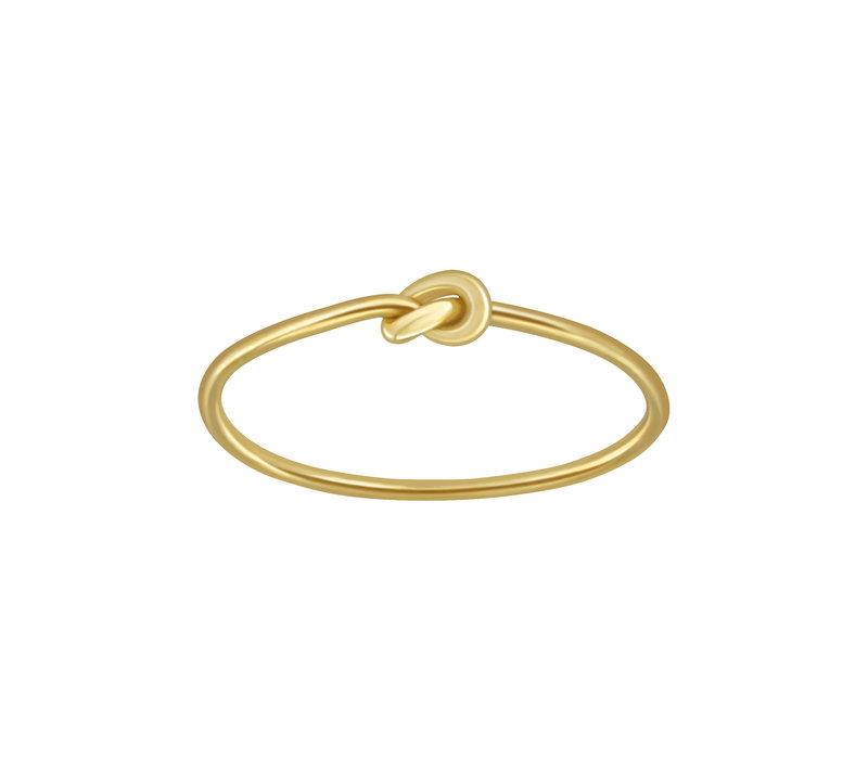 Feiner Ring mit Knoten aus 925er Sterling Silber - Gold