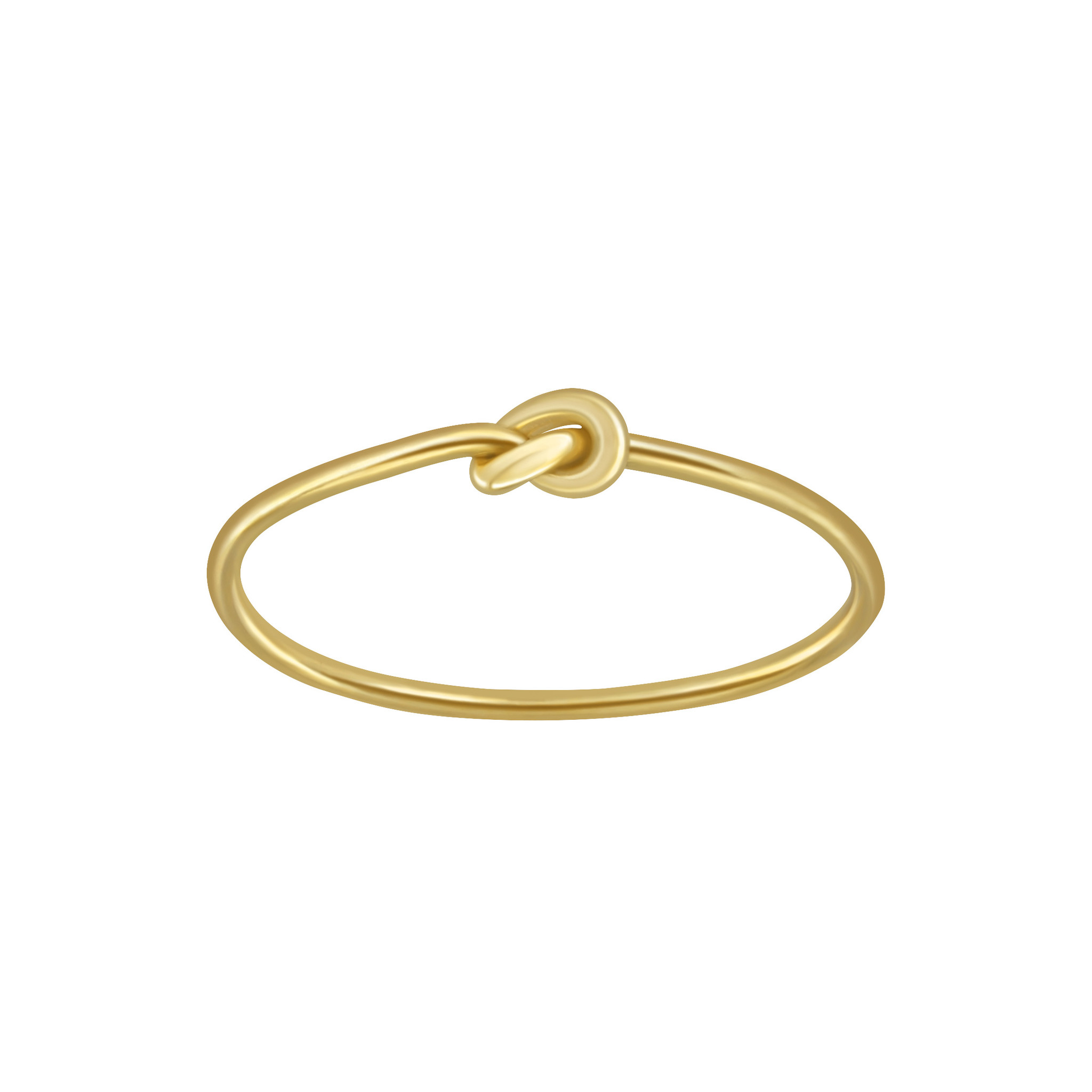 Fine ring with knot made of 925 sterling silver - gold-1