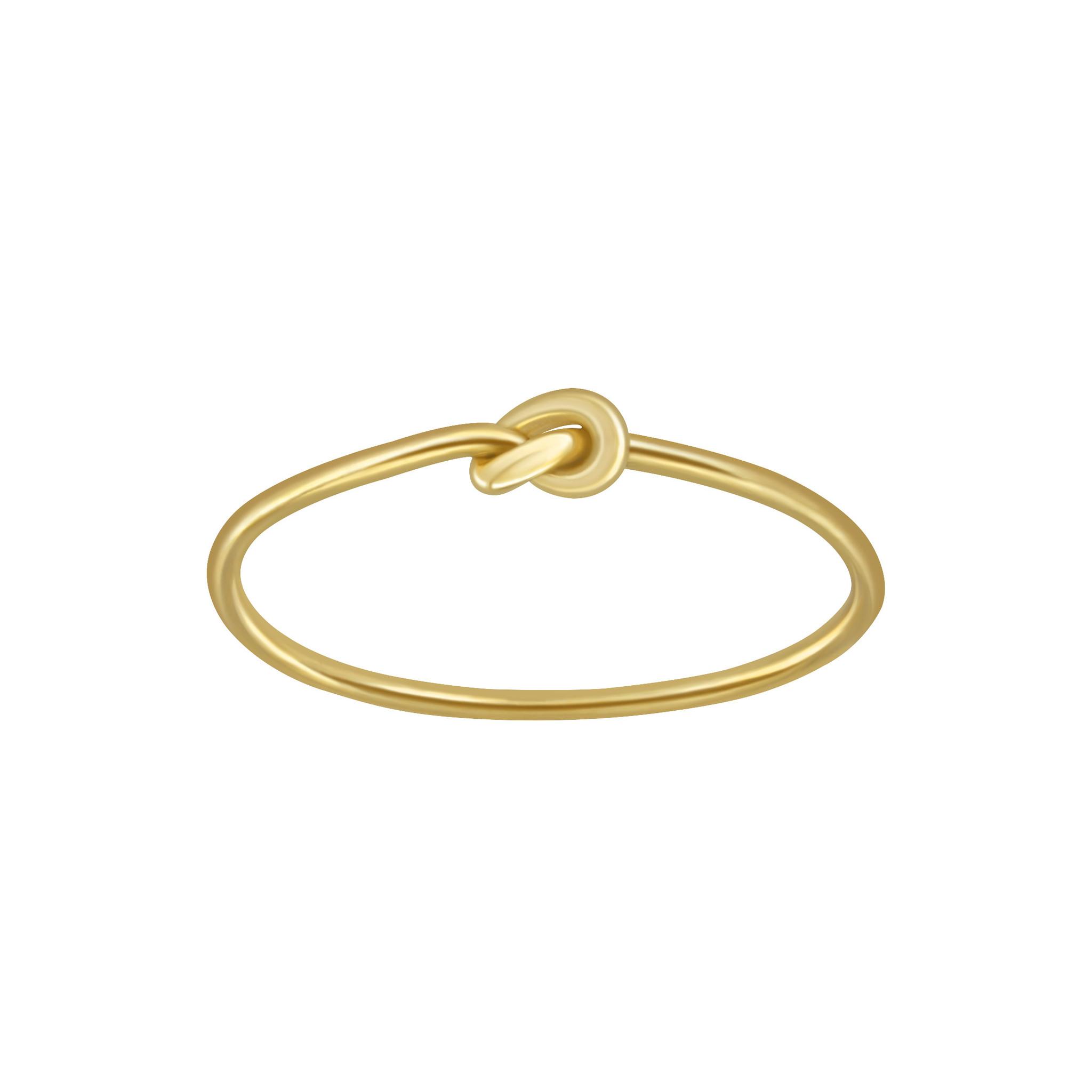 Feiner Ring mit Knoten aus 925er Sterling Silber - Gold-1