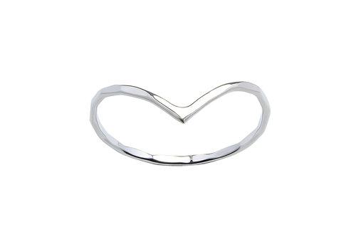 Feiner Ring mit Dreieck - 925er Sterling Silber