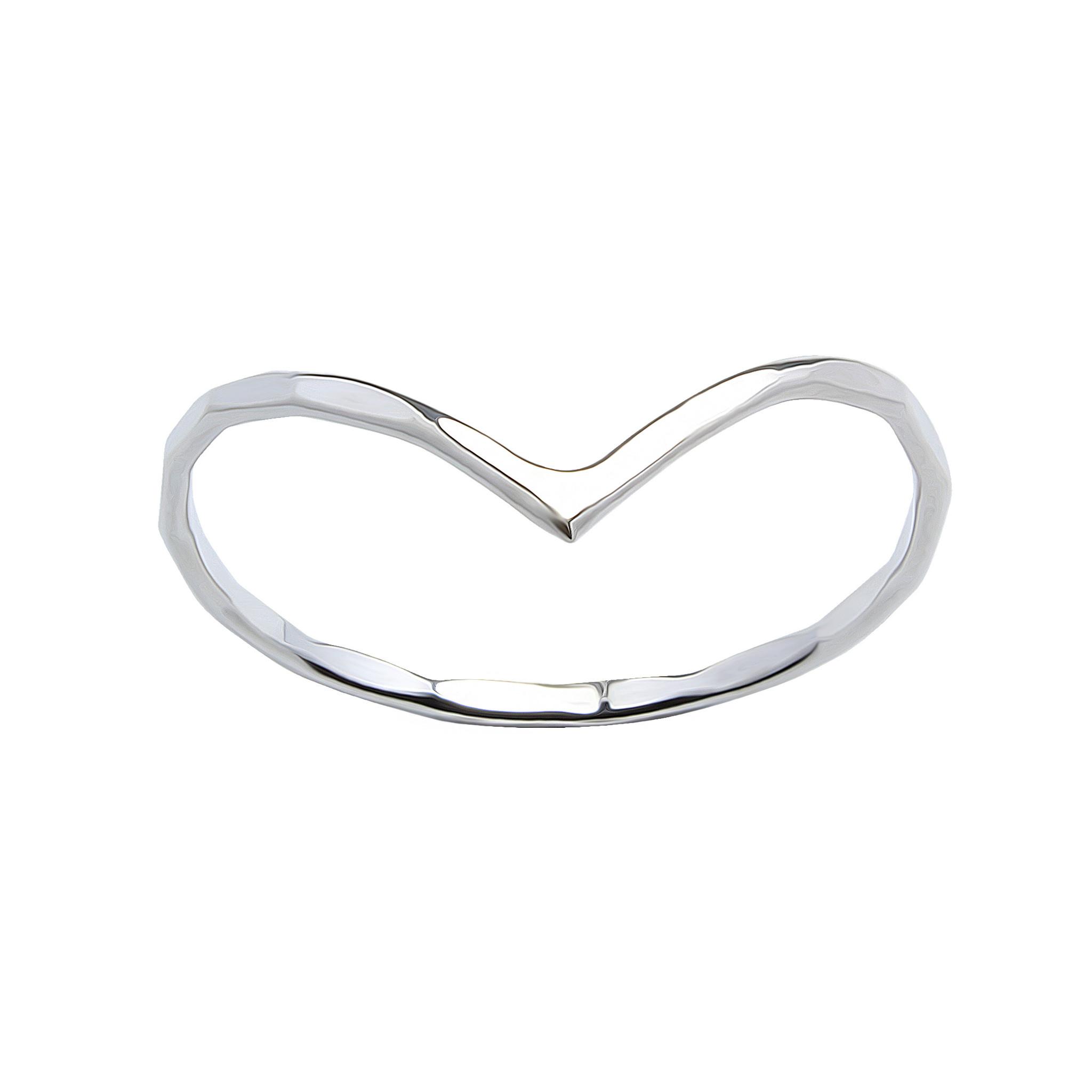 Feiner Ring mit Dreieck - 925er Sterling Silber-1