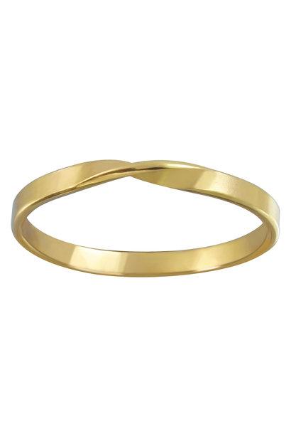 Zarter Ring gedreht - 925er Sterling Silber - Gold