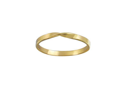 Delicate ring turned - 925 sterling silver - gold