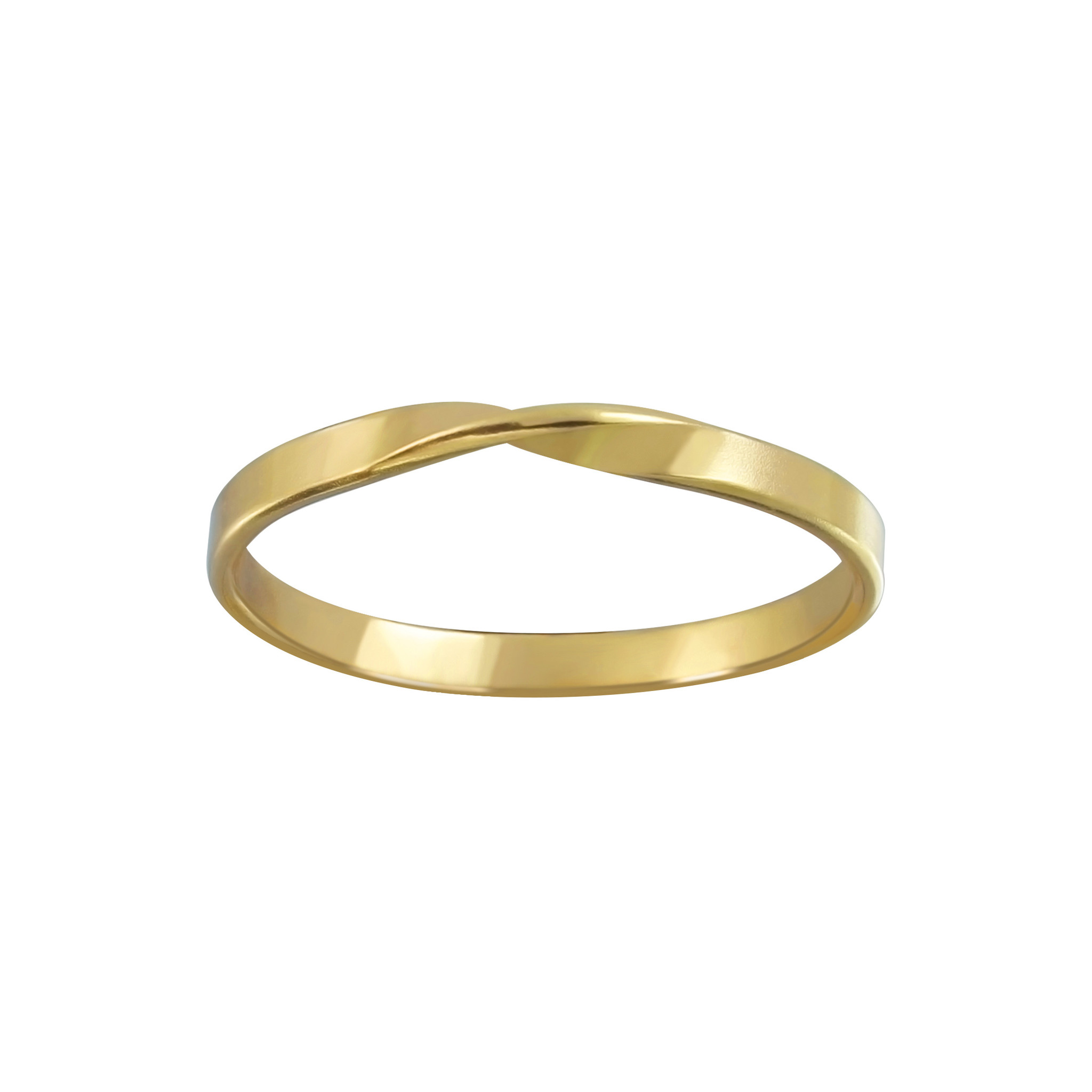 Delicate ring turned - 925 sterling silver - gold-1