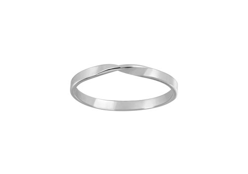 Delicate ring turned - 925 sterling silver