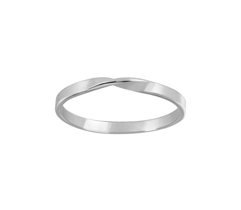 Zarter Ring gedreht - 925er Sterling Silber