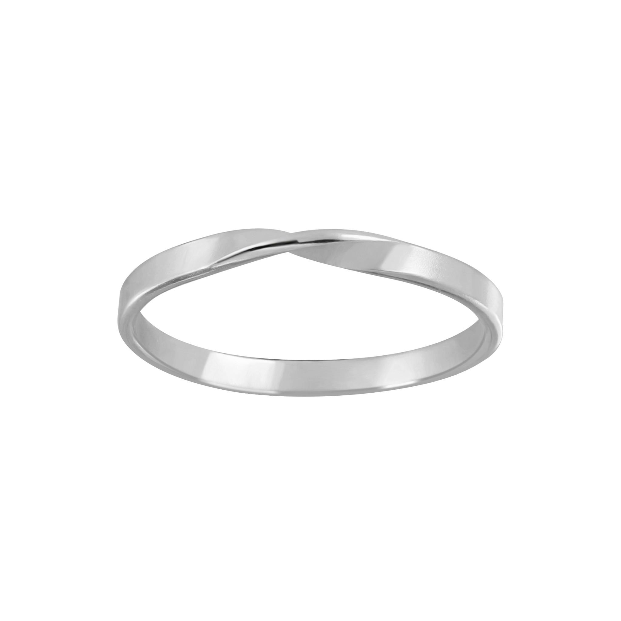 Zarter Ring gedreht - 925er Sterling Silber-1