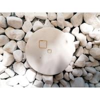 Kleine Creolen Ohrringe Quadrat - 925er Sterling Silber - Gold - 8mm