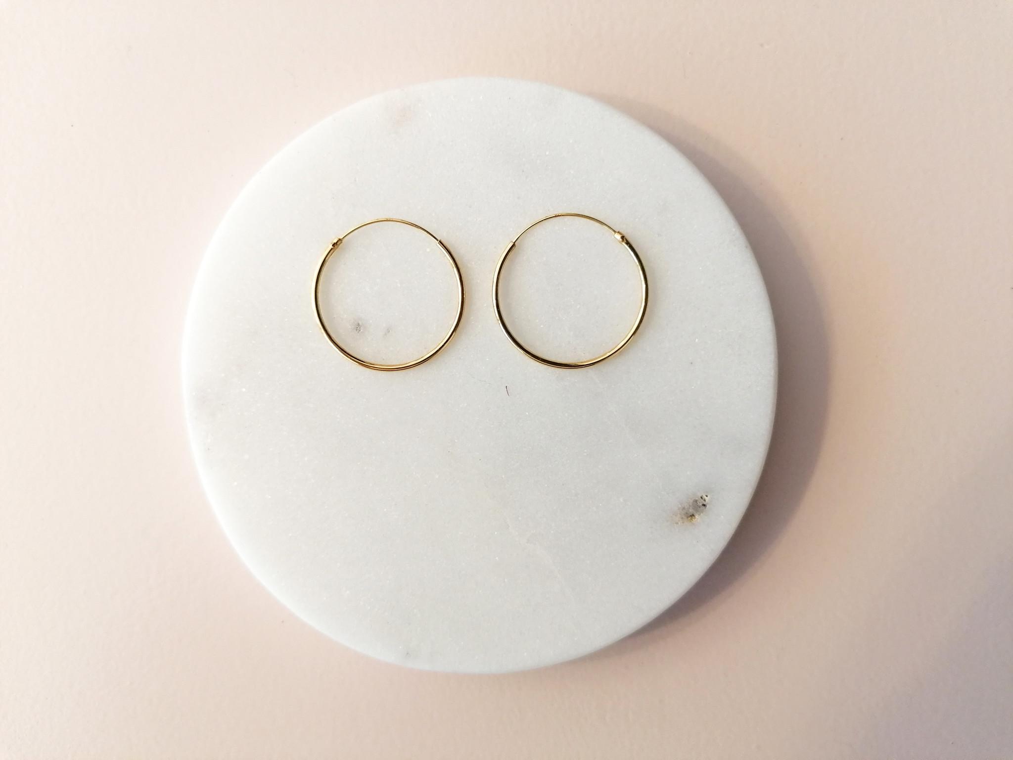 Große Creolen Ohrringe - 925er Sterling Silber - Gold-2
