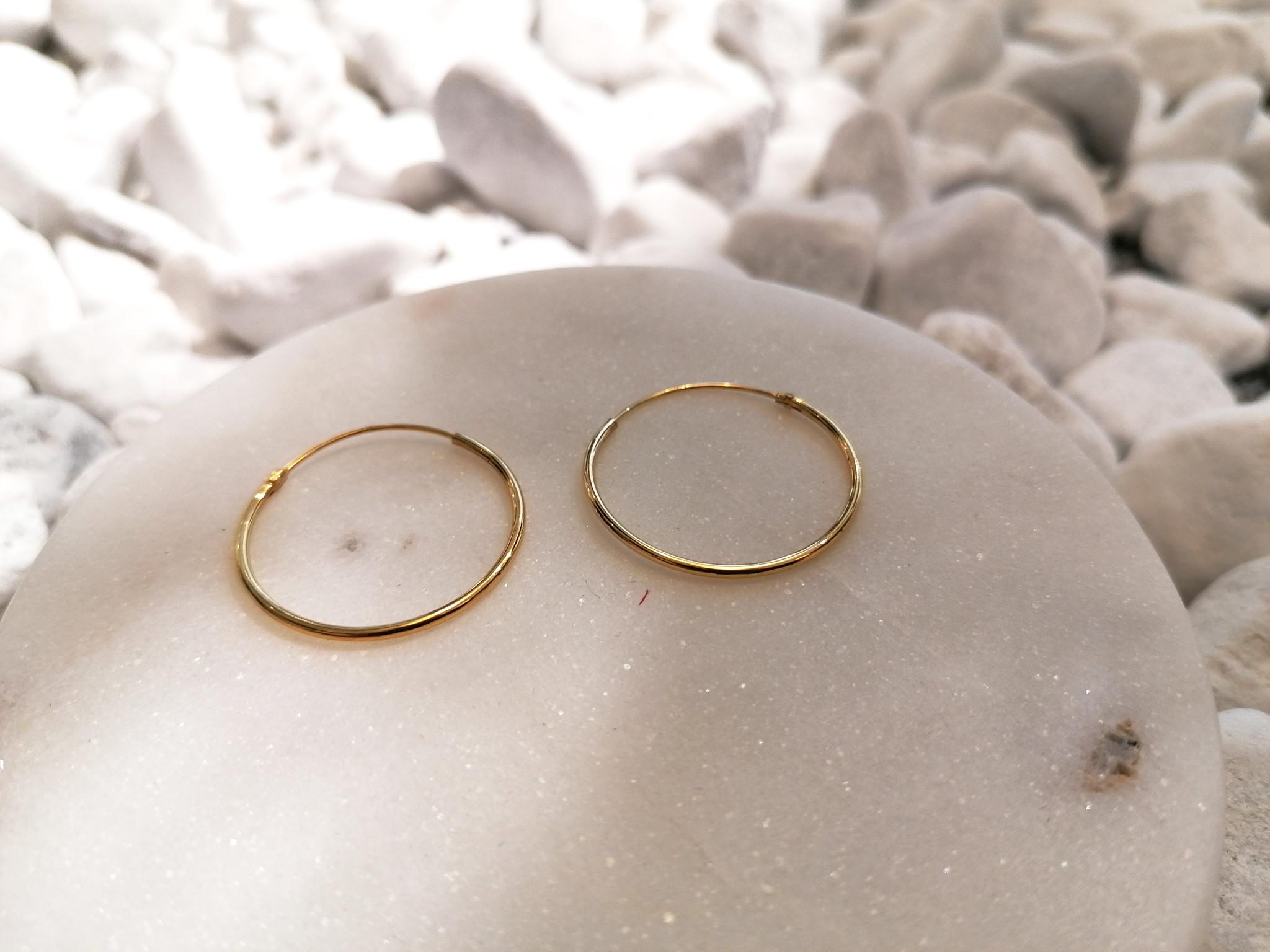 Große Creolen Ohrringe - 925er Sterling Silber - Gold-4
