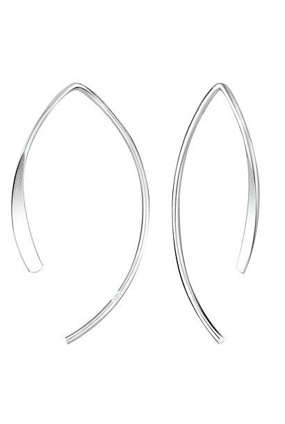 Puristischer Ohrring gestanzter Bügel aus 925er Sterling Silber