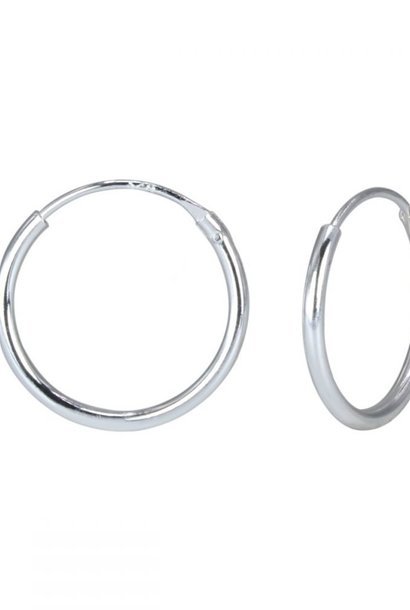 Small hoop earrings (10mm) - 925 sterling silver