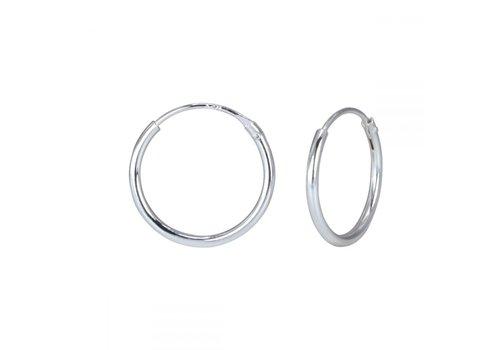 Small hoop earrings (10mm) - 925 sterling silver