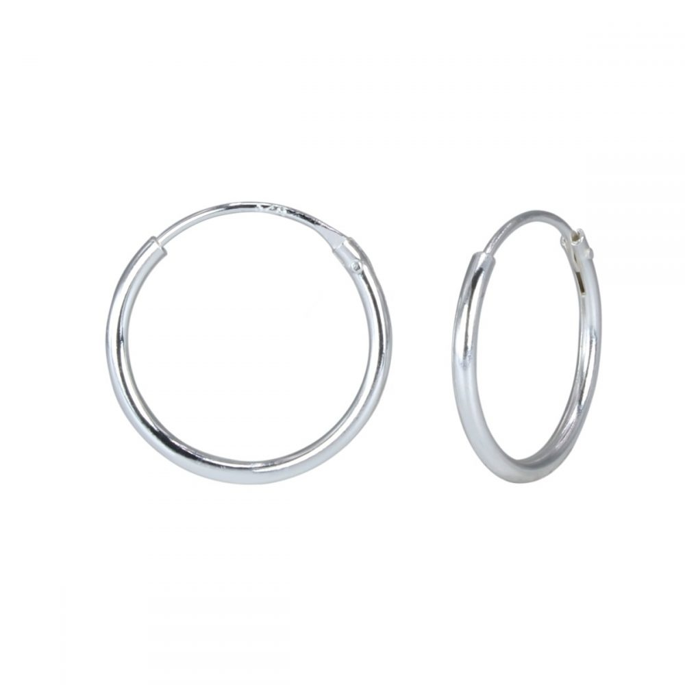 Small hoop earrings (10mm) - 925 sterling silver-1