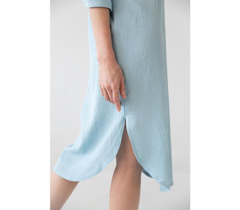 Organic cotton caftan - light blue