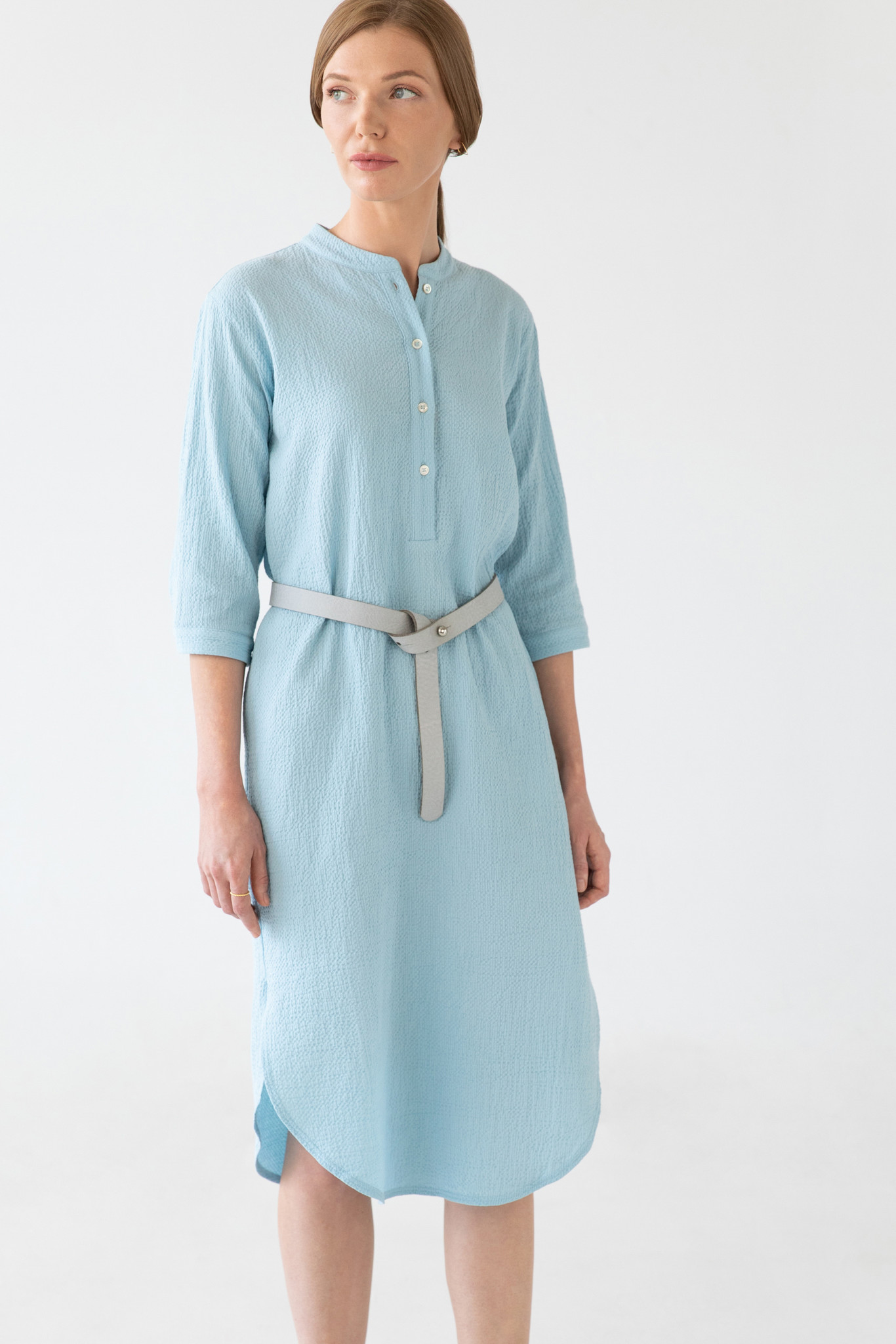 Organic cotton caftan - light blue-1