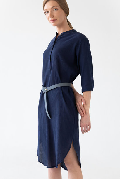 Organic Cotton Kaftan - Navy