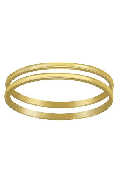 Doppelring aus 925er Sterling Silber - Gold