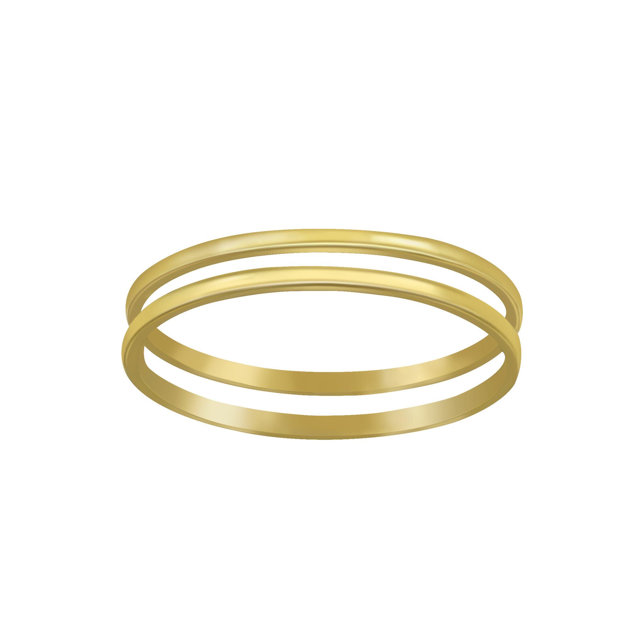Doppelring aus 925er Sterling Silber - Gold-1