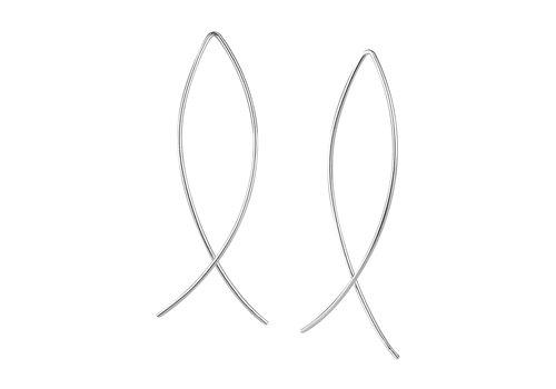 Luxaa Puristischer Bügel Ohrring verschlungen aus 925er Sterling Silber