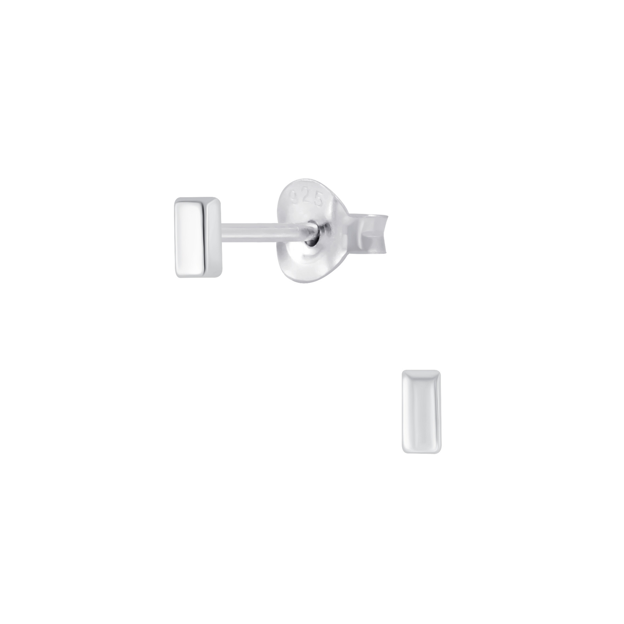 Delicate stud earrings made of 925 sterling silver-1