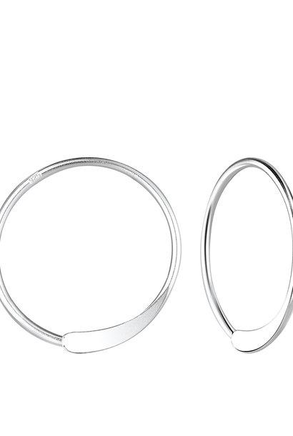 Kleine Creolen Ohrringe gestanzt - 925er Sterling Silber