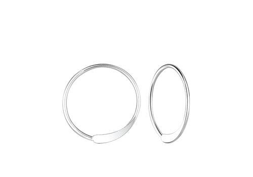 Luxaa Kleine Creolen Ohrringe gestanzt - 925er Sterling Silber