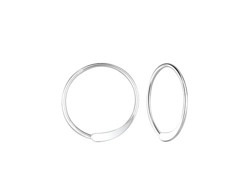 Luxaa Small hoop earrings punched - 925 sterling silver