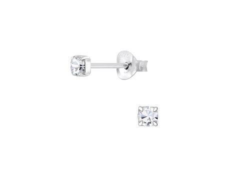 Luxaa Delicate ear studs with stone made of 925 sterling silver