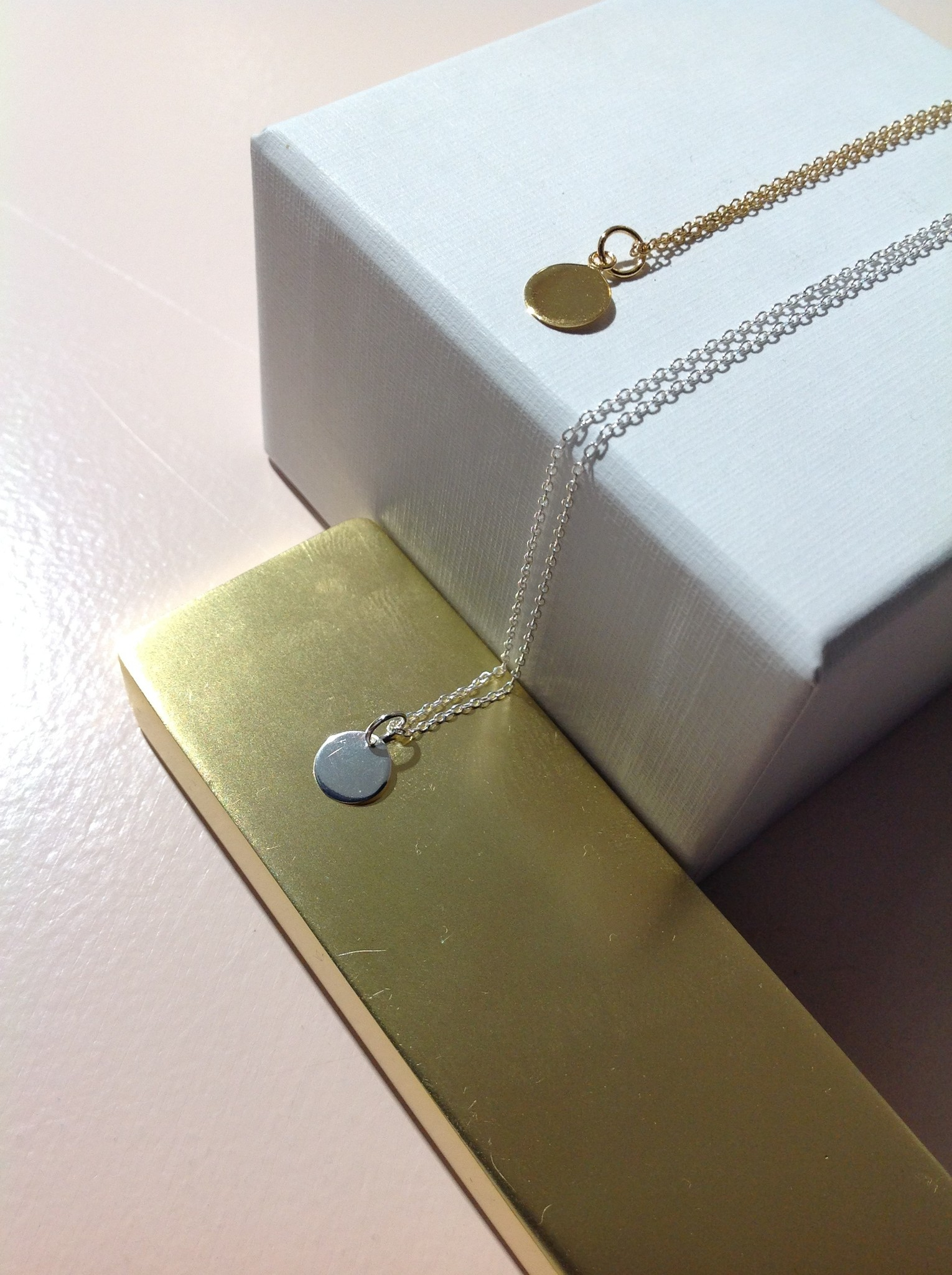 Delicate chain with pendant made of 925 sterling silver - gold-2