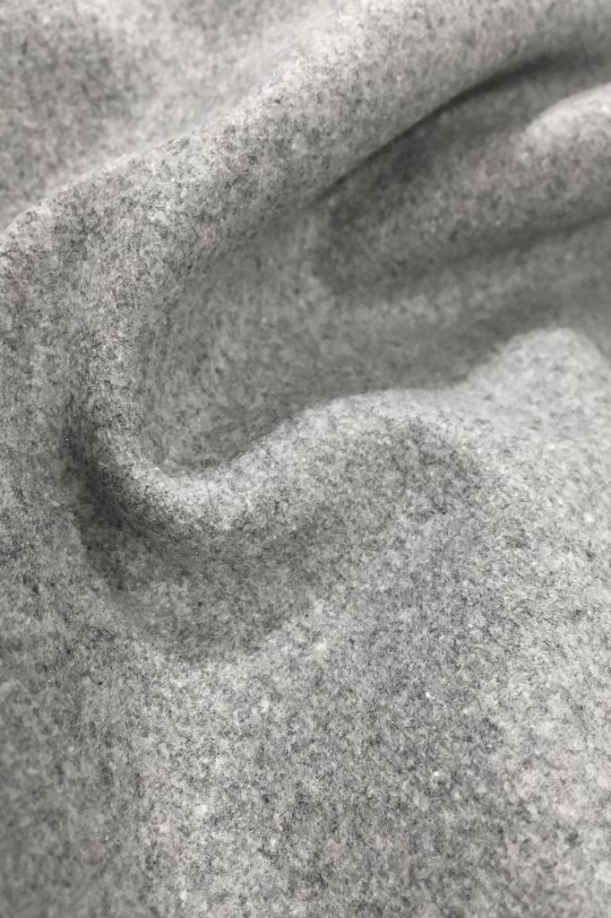Flared wool blend dress - gray-4