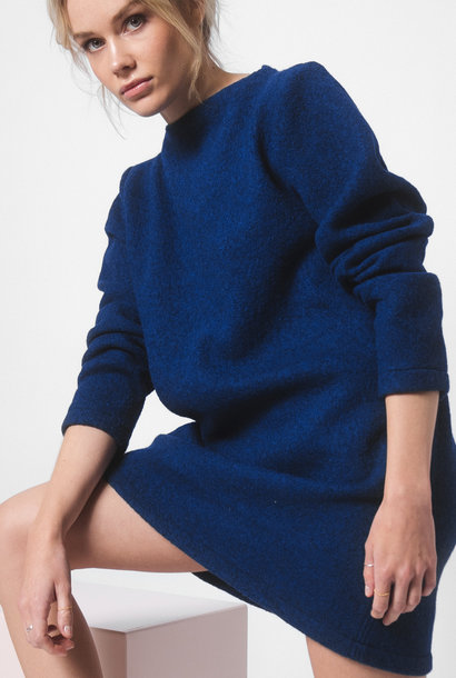 Dress made of pure new wool - blue